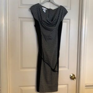 Black/Gray houndstooth dress